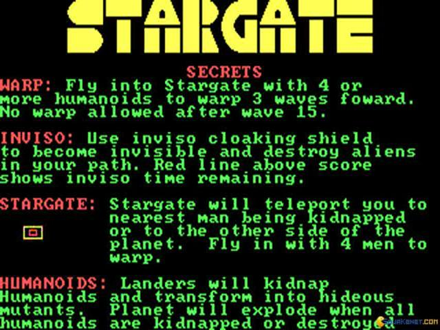Stargate - game cover