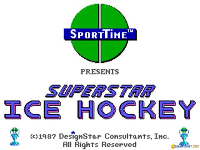 Superstar Ice Hockey - game cover