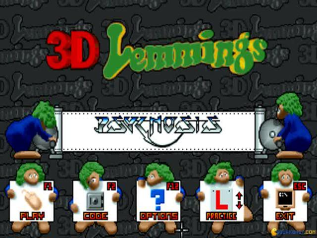 Lemmings 3D - title cover