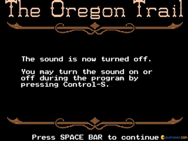 The Oregon Trail - title cover
