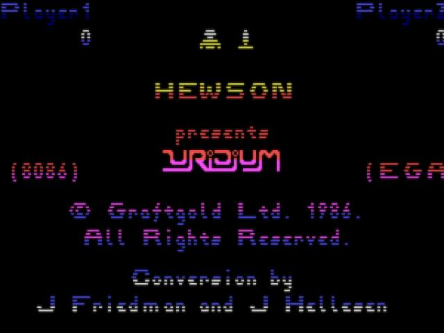 Uridium - title cover