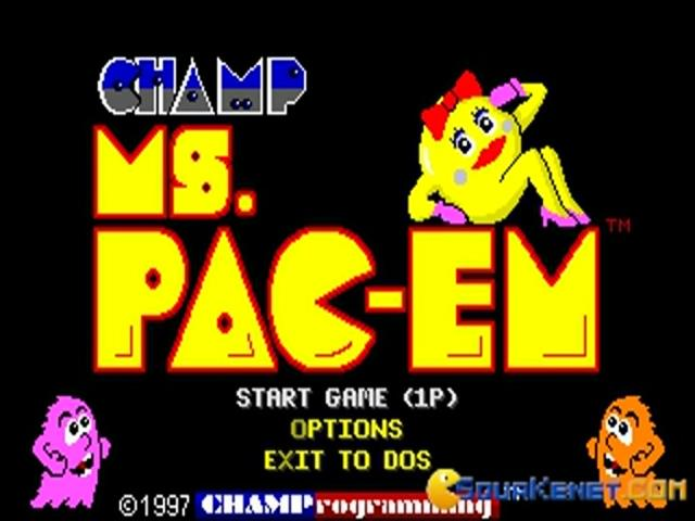 CHAMP Ms. Pacman - title cover