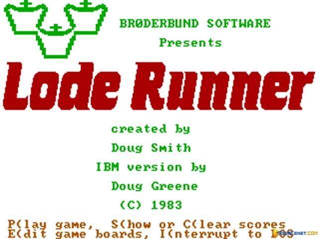 Lode Runner - title cover