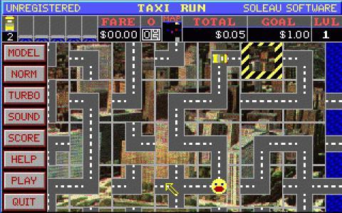 Taxi Run - title cover