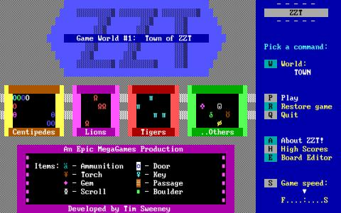 ZZT - game cover