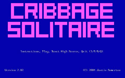 Cribbage Solitaire - title cover