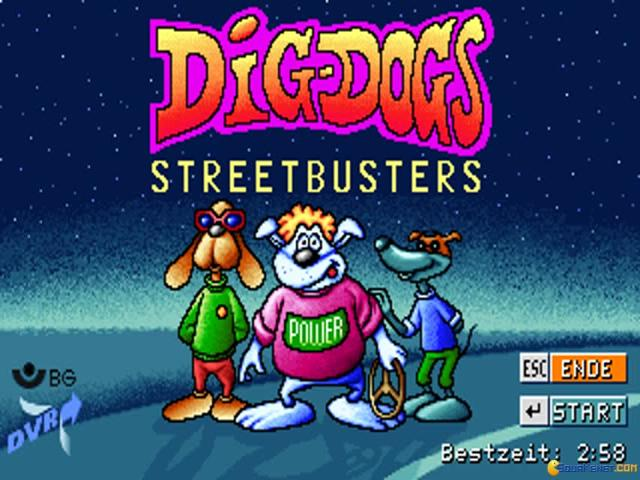 Dig Dogs: Streetbusters - title cover