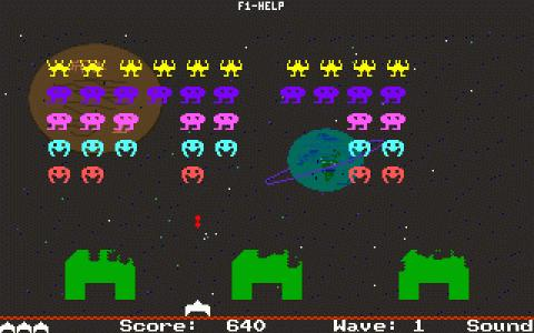 Spaced-Out Invaders - game cover