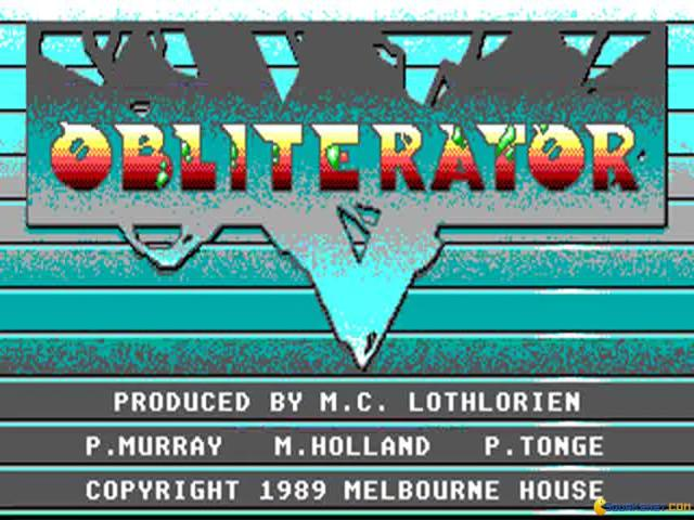 Obliterator - game cover