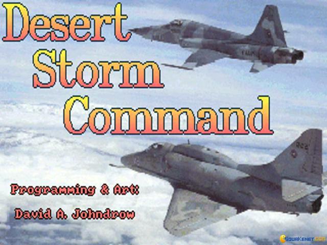 Desert Storm Command - game cover