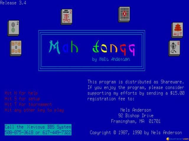 Mah Jongg - title cover