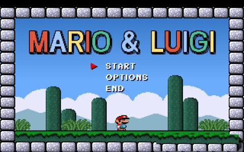 Mario and Luigi - title cover