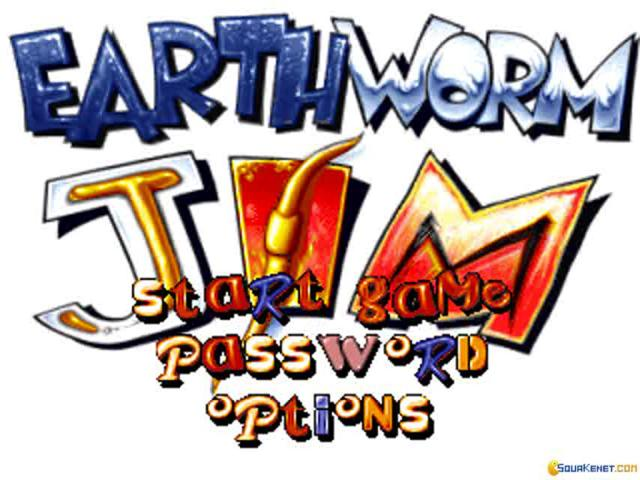 Earthworm Jim - title cover