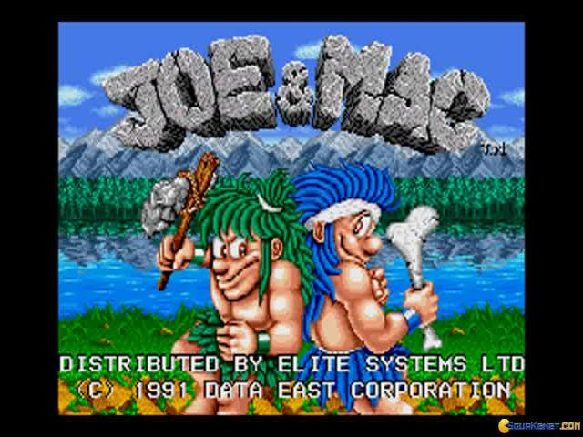 Joe and Mac - Caveman Ninja - title cover