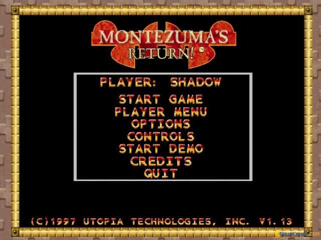 Montezuma's Return - title cover