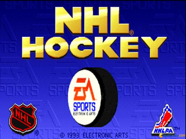 NHLPA Hockey 93 - title cover