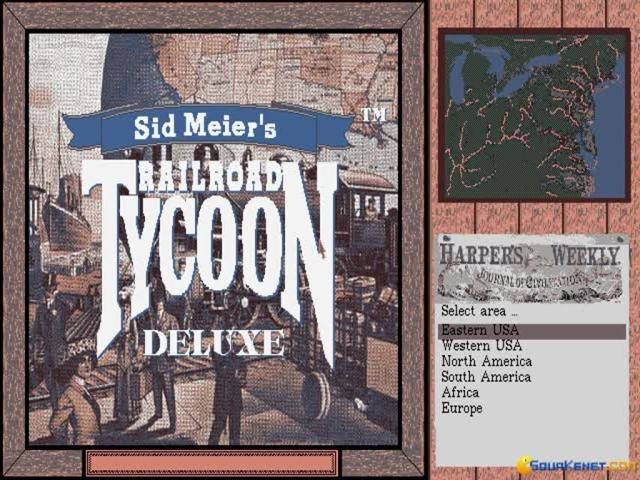 Railroad Tycoon Deluxe - game cover