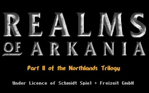 Realms of Arkania 2 - Star Trail - title cover