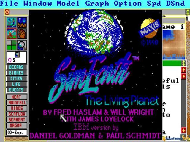 SimEarth - title cover