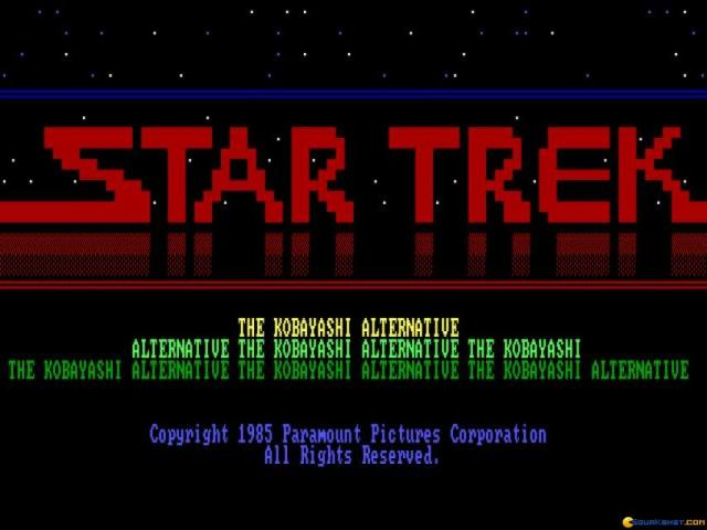 Star Trek - The Kobayashi Alternative - title cover