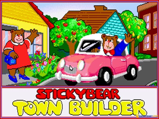 Stickybear Town Builder - game cover
