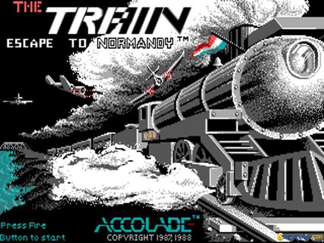 Train Escape to Normandy, The - title cover