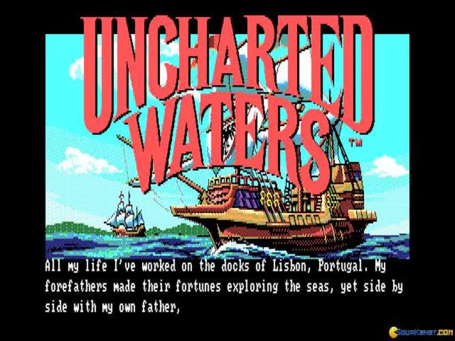 Uncharted Waters - game cover