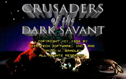 Wizardry VII - Crusaders of the Dark Savant - title cover