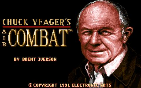 Chuck Yeager's Air Combat - title cover