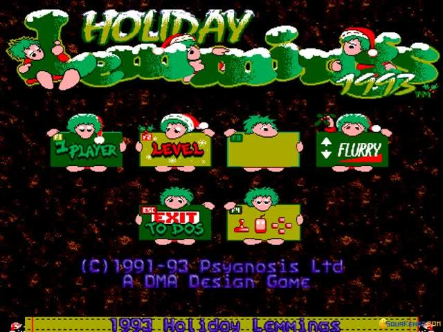 Holiday Lemmings 93 - game cover