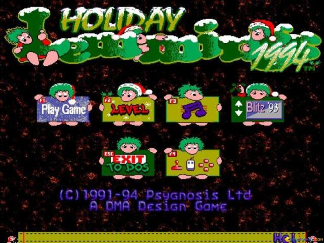 Holiday Lemmings 94 - game cover