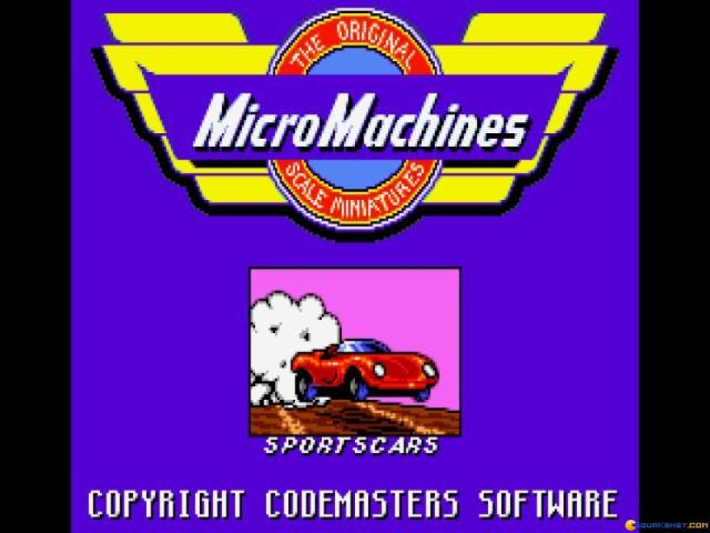 Micro Machines - title cover