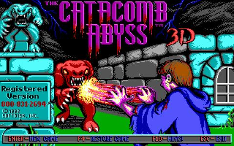 Catacomb Abyss 3D - title cover