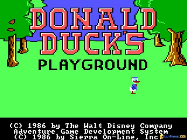 Donald Duck´s Playground - title cover