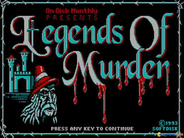 Legends of Murder - title cover