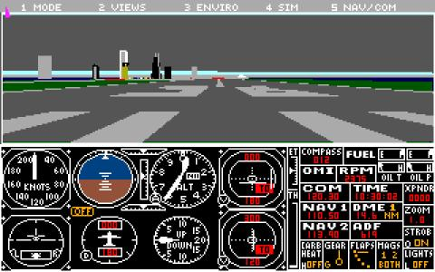 Microsoft Flight Simulator 4.0 - game cover