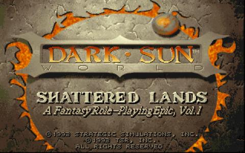 Dark Sun: Shattered Lands - title cover