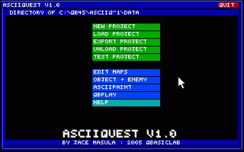 Asciiquest - game cover