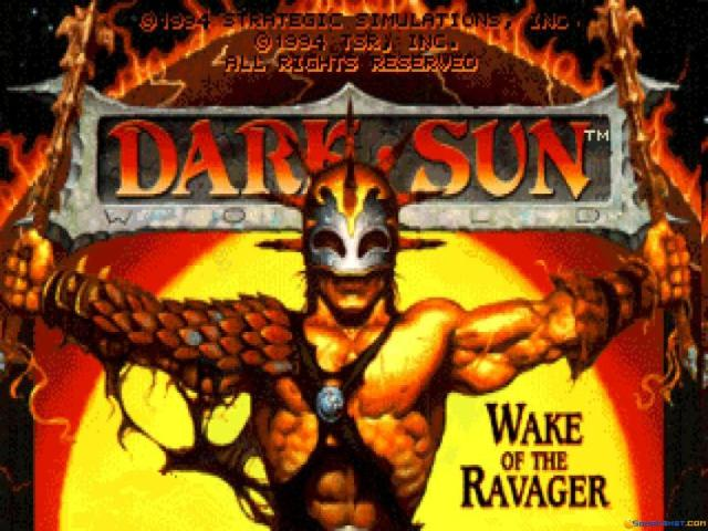 Dark Sun 2: Wake of the Ravager - title cover