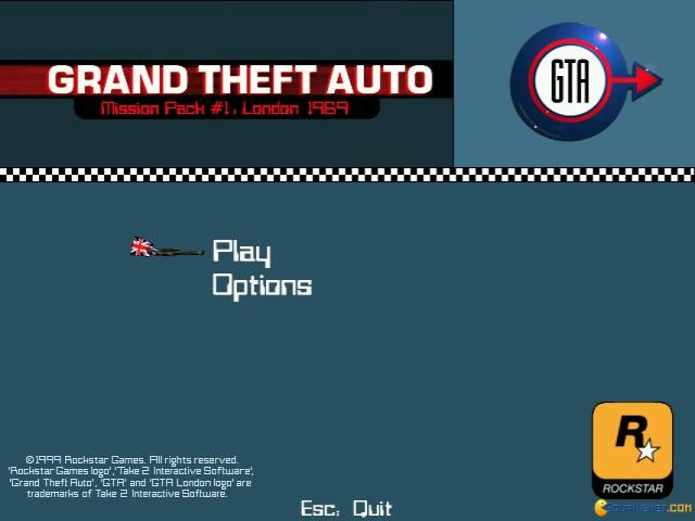 Grand Theft Auto: London 1969 - title cover