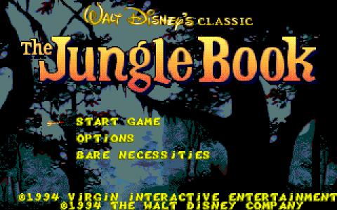 Disney's the Jungle Book - game cover