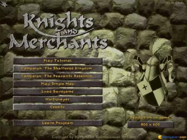 Knights & Merchants: The Shattered Kingdom - title cover