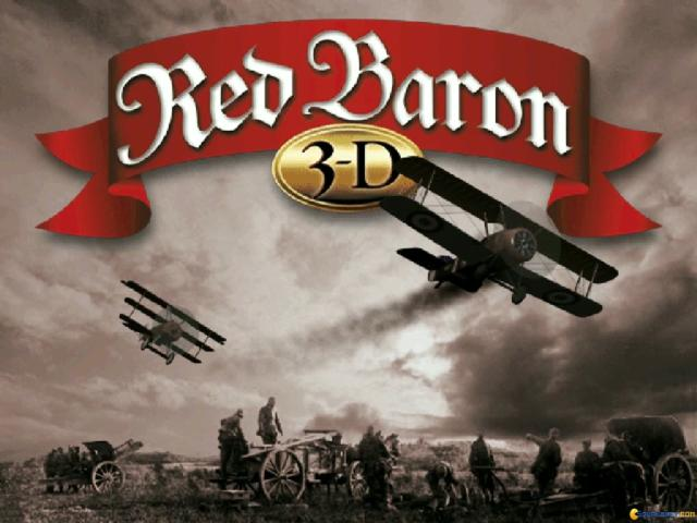 Red Baron 3D - title cover