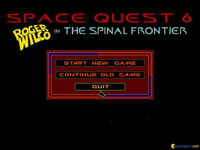 Space Quest 6: Roger Wilco in the Spinal Frontier - game cover
