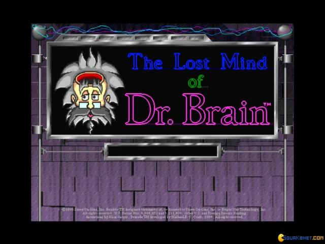 The Lost Mind of Dr. Brain - game cover