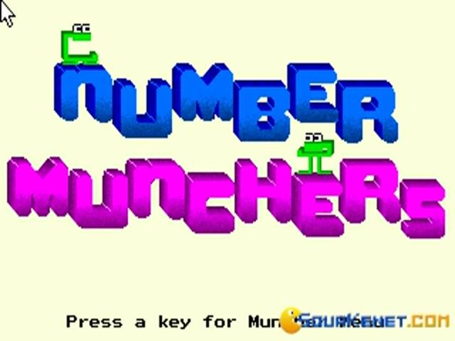 Number Munchers - title cover