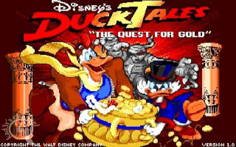 Ducktales Quest For Gold - title cover
