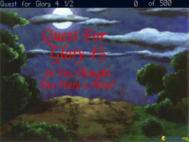Quest for Glory 4 1-2: So You Thought You Were a Hero - title cover