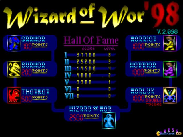 Wizard Of Wor - title cover