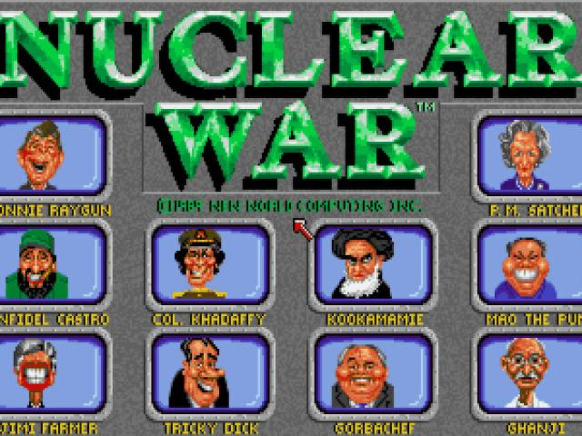 Nuclear War - title cover